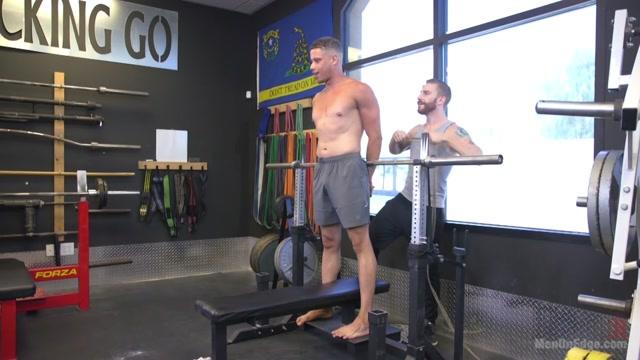 Tony Shore in Tony Shore, Tied Up And Edged At The Gym - MenOnEdge Atk feet pics