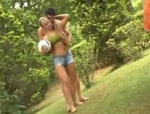 Hot blonde outdoor porn from the girls pov