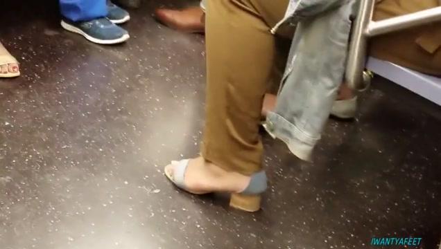 Candid feet train ride compilation New mature tube.com