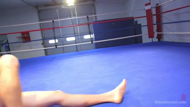 Kaden Alexander & Pierce Paris in Hot Newcomer Pierce Hartman Challenges Kaden Alexander - NakedKombat Girls into fat guys