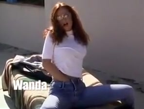 Horny redhead milf in jeans Having sex with a sexy girl