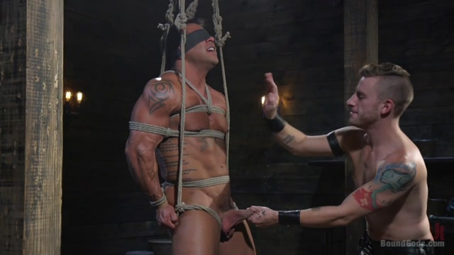 Draven Navarro & Sebastian Keys in Bound Bodybuilding God At The Hands And Torment Of Mr Keys - BoundGods bottom left map piece
