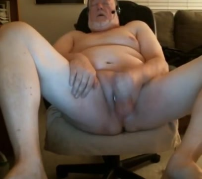 Grandpa cum on webcam 3 Mega dildo in girls ass