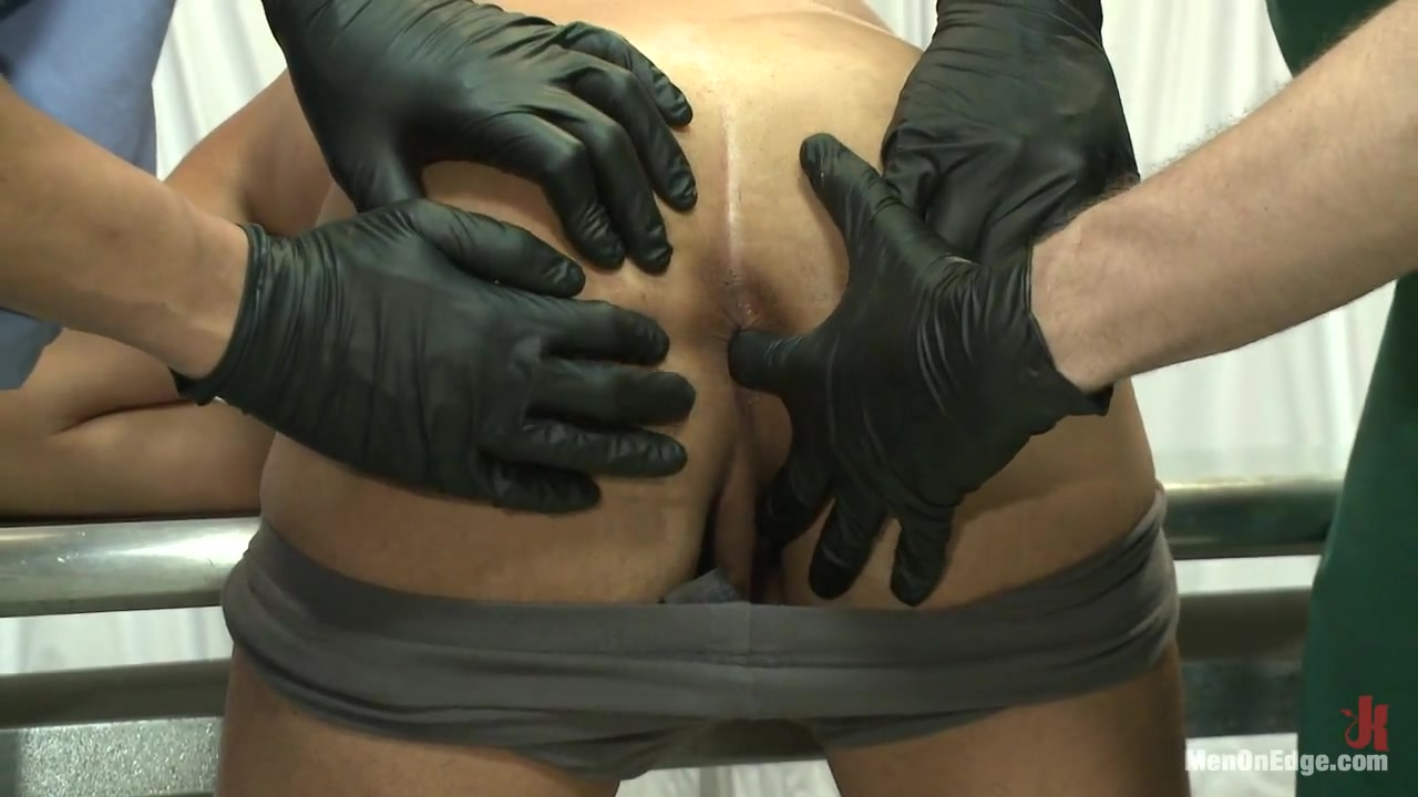 Carter West is medically examined and edged by two perverts Man fisting daughter