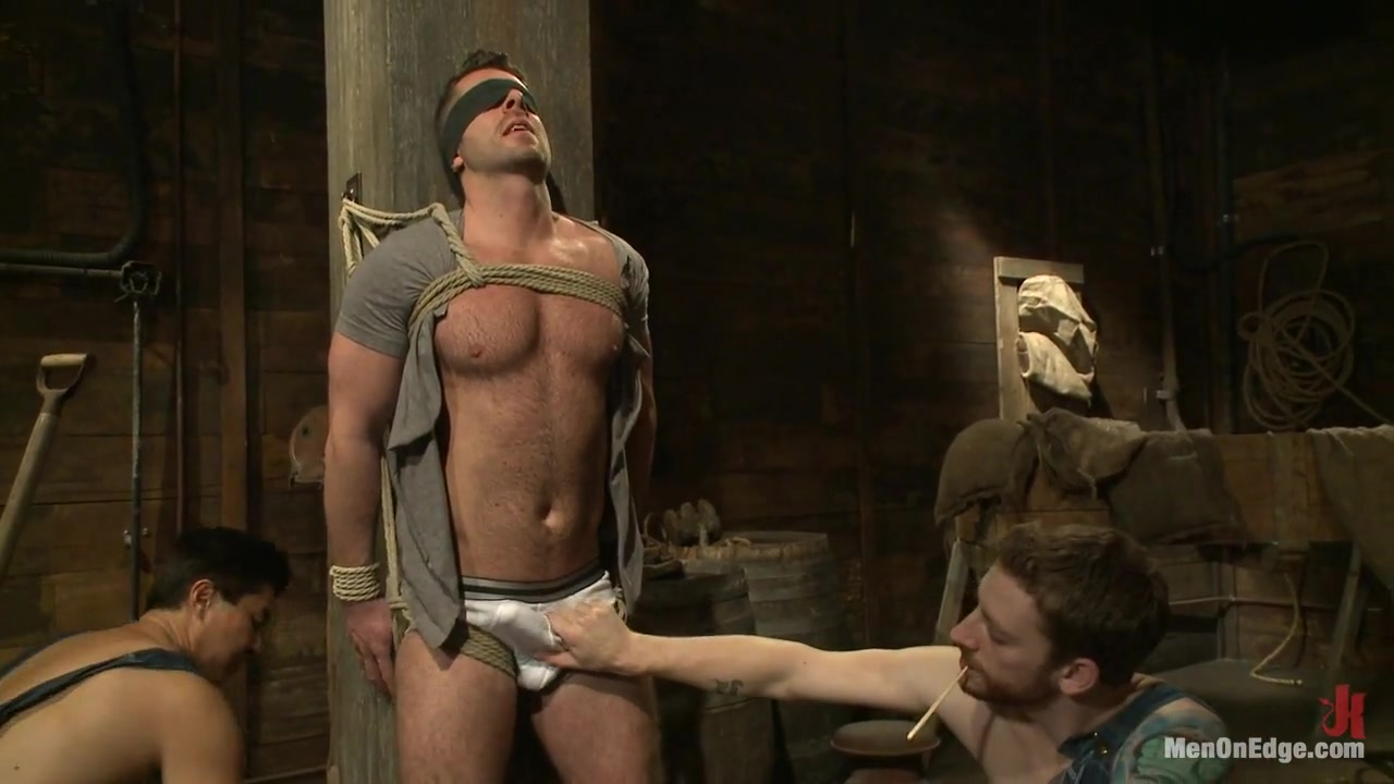 Hairy Muscle Hunk Has His Cock Edged By Two Farmers Family Vacation Sex Story
