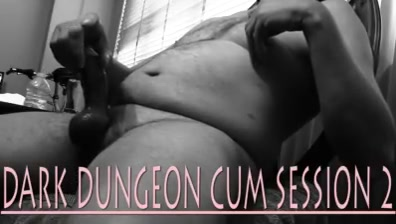 Dark Dungeon Cum Session bride gone wild sucks off a black stripper hunk