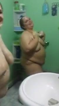 Two iraqi mature bbws in the shower free nude in public video