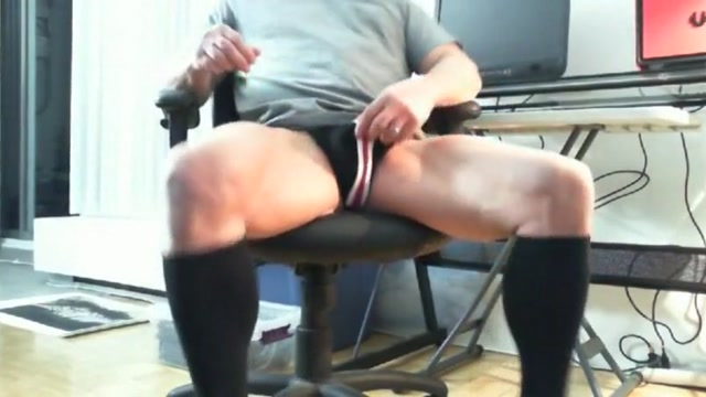 Wanking in black socks 7 Watching wife fuck her boss