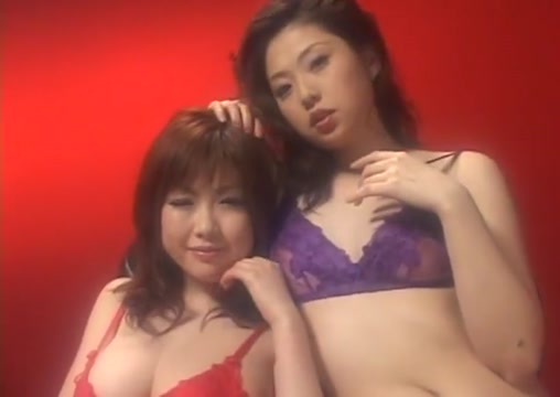 Japanese lesbians help with masturbation