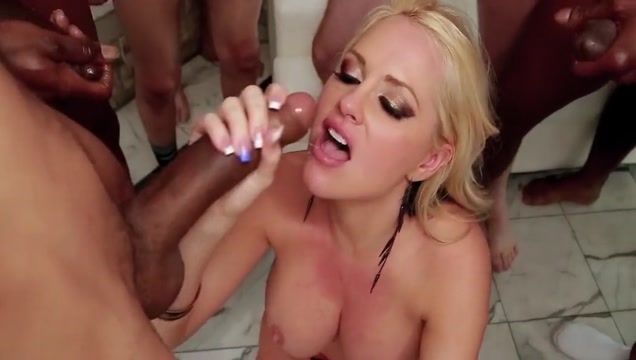 Epic sloppy blowbang throat fuck 2