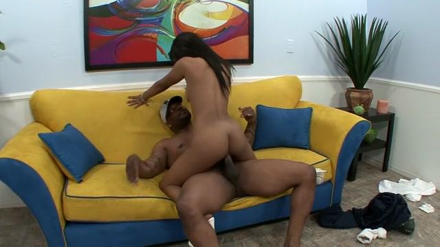 Ebony cutie with a perky ass Rhianna Ryan goes crazy for a black stick Cock Hound Gag