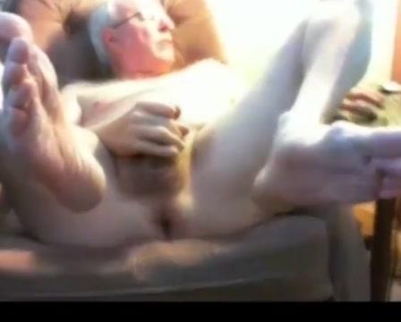 Grandpa cum on webcam 3 Big round ebony