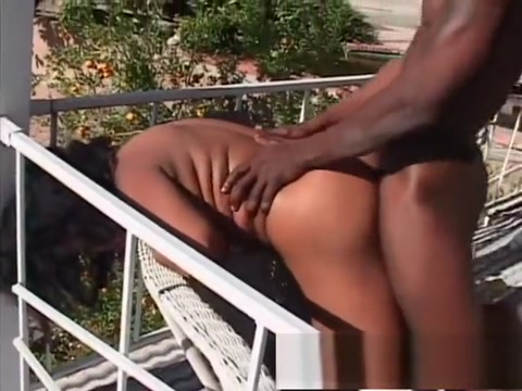 Busty ebony babe Jordan blows and gets her bush drilled outside desi aunty homemade porn
