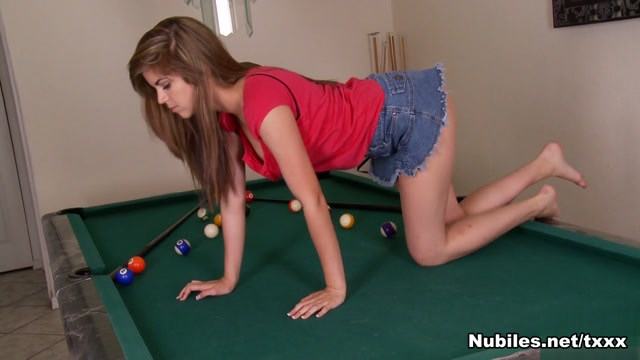 Brooke Lynn in Pool Table Play - Nubiles women and men doing sex