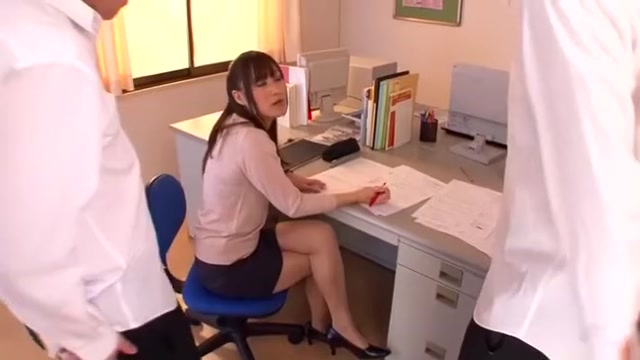 Horny Japanese chick Reika Yoshizawa in Exotic Threesome, Swallow ?um JAV scene Sexy bobes video