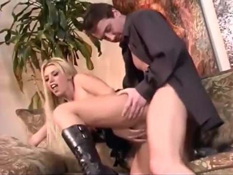 Slim blonde Brittney Skye with huge boobs begs her lover to jizz her