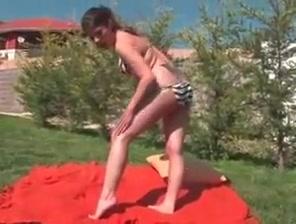 Amateur - hot college girl bottling outdoors Gangbang assholes lick penis and interracial