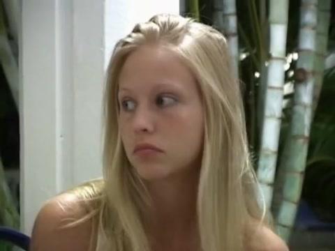 Teen blonde gets her holes fingered