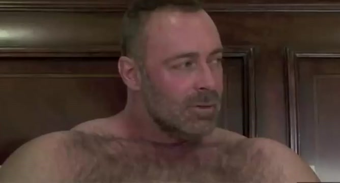 Hairy bear in threesome with 2 junior guys nice pussy phat ass