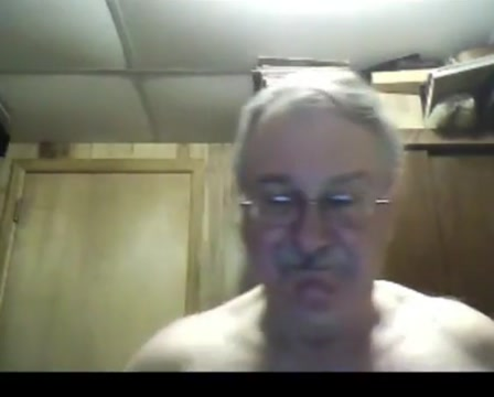 Grandpa show on webcam 3 Asian playing with boobs