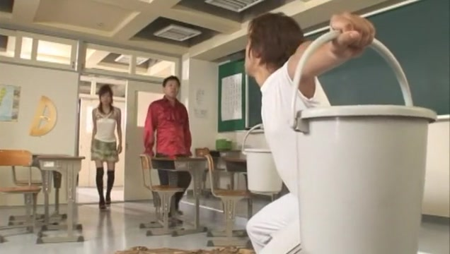 Exotic Japanese chick Youming Uehara in Amazing Cougar, Threesome JAV clip