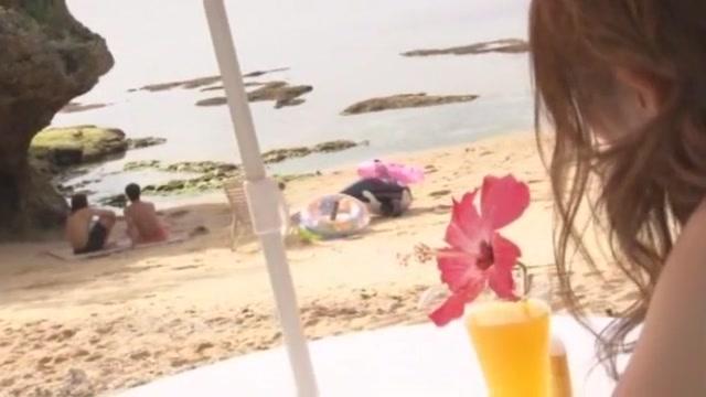 Hottest Japanese girl Rina Kato in Incredible Threesome, Beach JAV clip Mineola tx hookup sex
