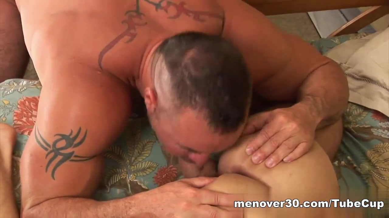 MenOver30 Video: Adams Rib Cumming on huge tits slow motion