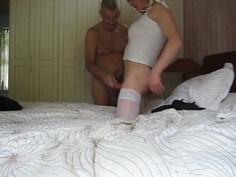 Jeannet fuentes cock play with the butler Pussy and thong pics