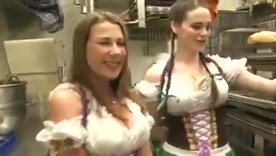Barmaids threesome Helpless forced