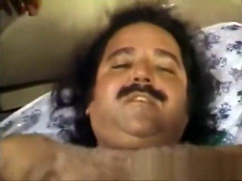 Chubby Ron Jeremy has three black bitches doing everything he wants