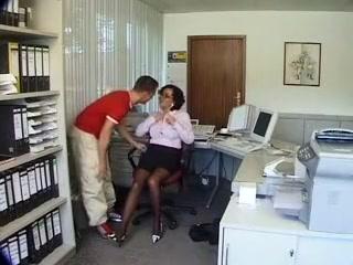 Exotic homemade Secretary, Brunette sex video