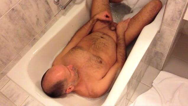 Chubby rubbing his tummy Girls cock teasing porn gif