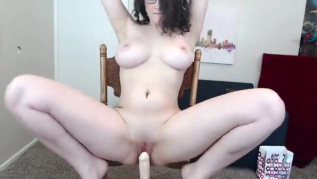 Busty girl and the big dildo
