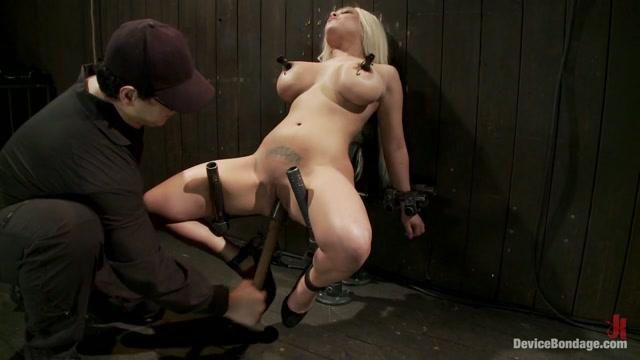 Natasha Talonz in Horror actress takes real life bondage and orgasms - DeviceBondage busty alli new video