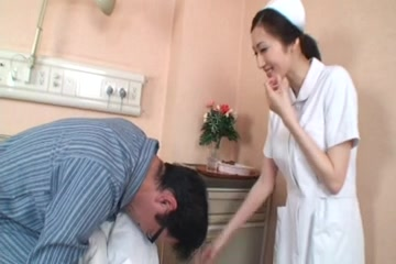julia oppai-loving nurse three-by PACKMANS Slim brunette anal toyed and fisted by mistress
