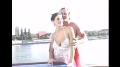 busty threesome on a boat Sexy older brunette