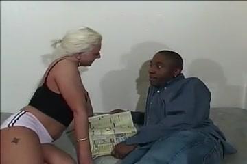 Attractive Blonde Mature Sucks Big Black Cock