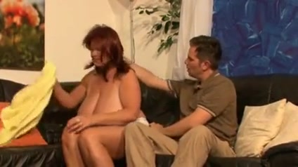 Super horny redhair mature with big tits Nana dreams