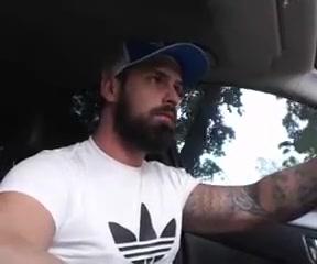 Bearded Tattooed Hunk Jerk Off & Cum in Car Women biggest pussy in world