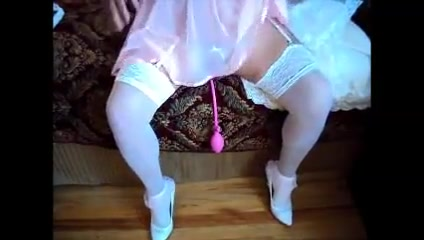 Sissy dolled up pink & white ass plug Dallas social clubs for singles