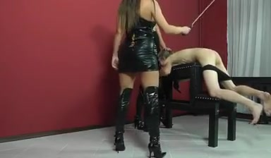 Two junior girls whipping male