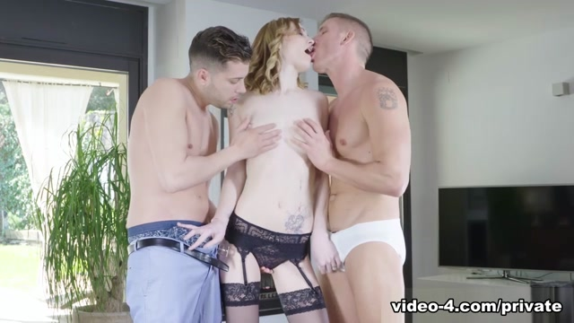 Belle Claire Dons Lingerie For Dp Threeway - Private Brace Face Crazy Squirting Orgasm
