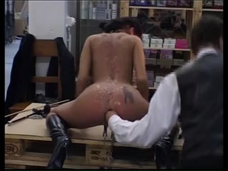 Hard anal fist fucking with cum-hole weights Sex vieos office toilets