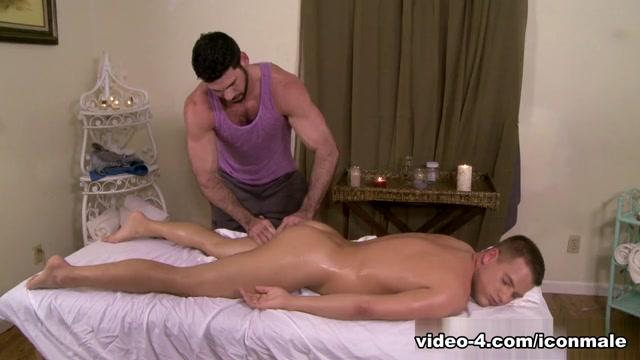 Billy Santoro & Brandon Wilde in Gay Massage House 2 Video Black & white erotic pics