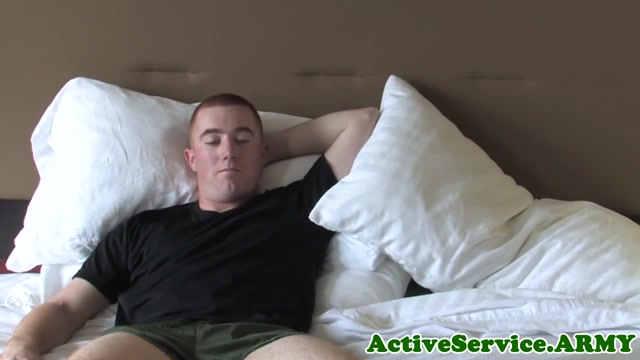 Solo ginger soldier jerking his cock Women Licking Each Others Tits