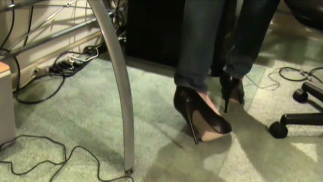 Dolce Vita Platform High Heels Dangle Nasty black creampie
