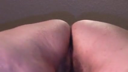 Underside view Doggy with creampie