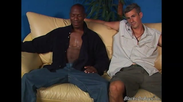 Young black stud banging a mature man anal threesome tushy cream