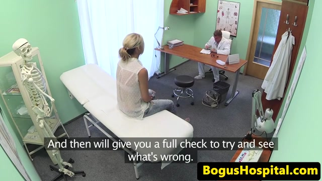 Busty euro fingered and fucked by her doctor gril and boy saxy