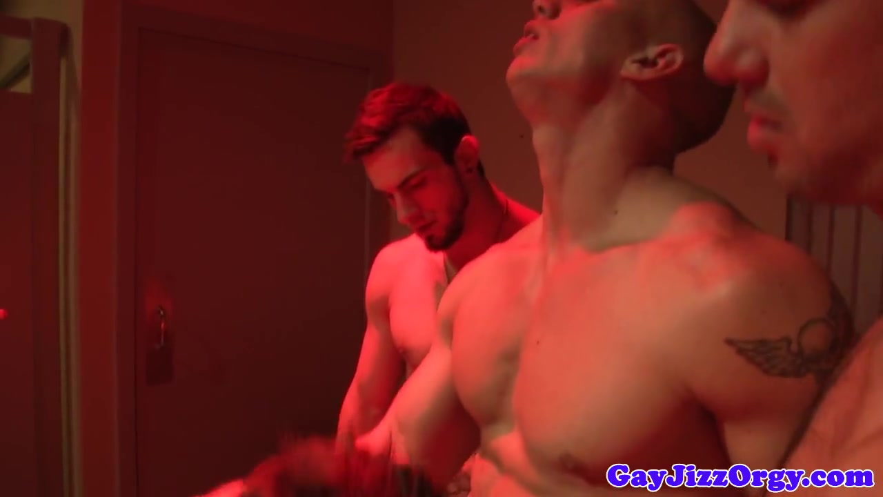 Beefy hunks having a gang fuck hot and naked asian